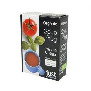 Just Whole Foods Tomato & Basil Soup Sachets (4) 68g