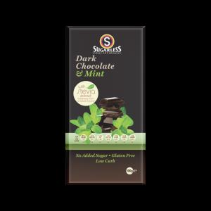 Sugarless Confectionery Dark Chocolate & Mint 100g