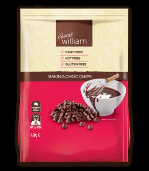 Sweet William Dairy Free Choc Chips 150g