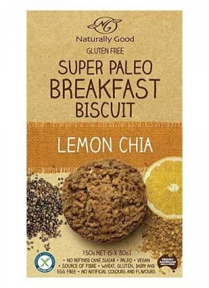Naturally Good Super Paleo Breakfast Biscuit Lemon Chia 150g