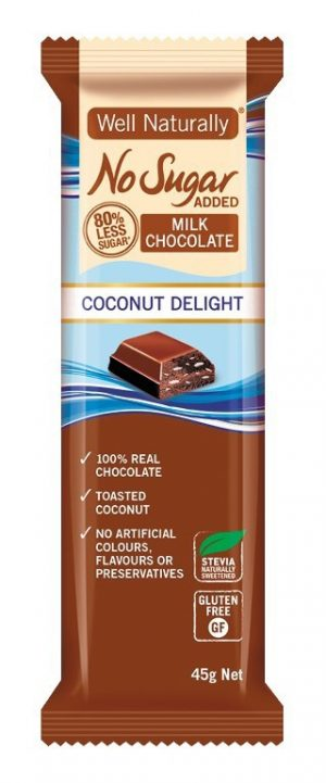 Well Naturally Chocolate Coconut Delight 45g