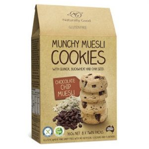 Naturally Good Munchy Chocolate Chip Muesli Cookies 160g
