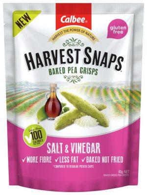 Harvest Snaps Pea Crisps Salt & Vinegar 93g