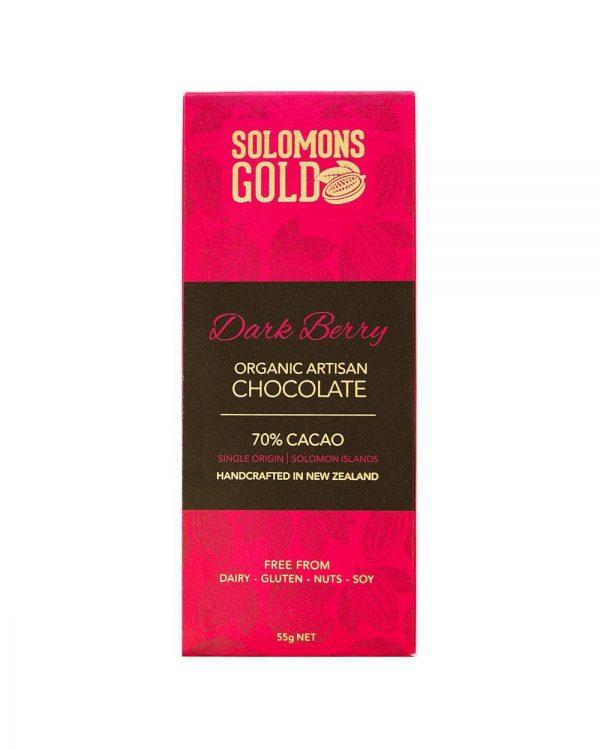 Solomons Gold Dark Berry Choc 55g
