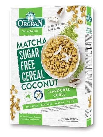 Orgran Sugar Free Matcha & Coconut Cereal 200g