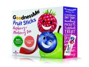 Goodness Me Fruit Sticks - Raspberry & Blueberry 8 Pack 120gm