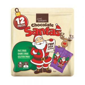 Sweet William Chocolate Santas 12 Pieces 155g