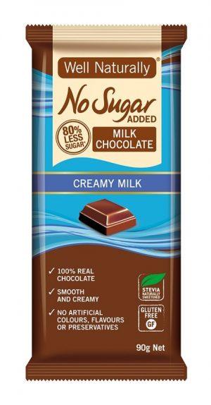 Well Naturally Chocolate Creamy Milk 90g