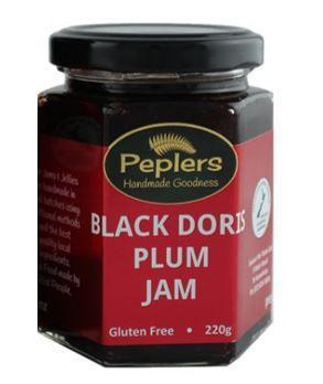 Peplers Black Doris Plum Jam 220g