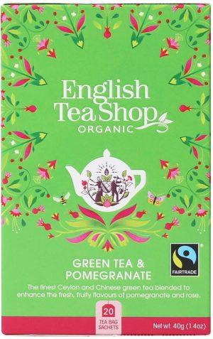 English Tea Shop - Green Tea and Pomegranate 40g