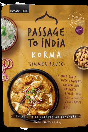 Passage to India Korma Simmer Sauce 375g