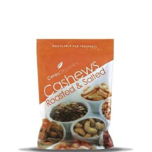 Ceres Organics Roasted and Salted Cashews 100g