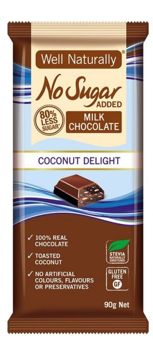 Well Naturally Chocolate Coconut Delight 90g
