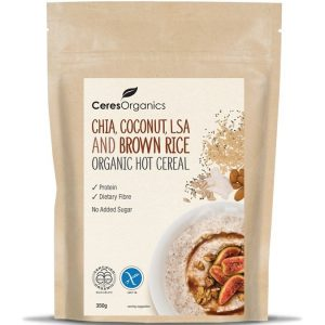 Ceres Organics Chia Coco LSA Brown Rice Hot Cereal 350g
