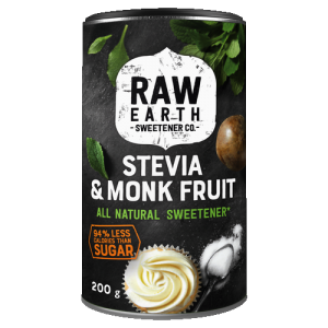 Raw Earth Stevia and Monk Fruit Sweetener 200g