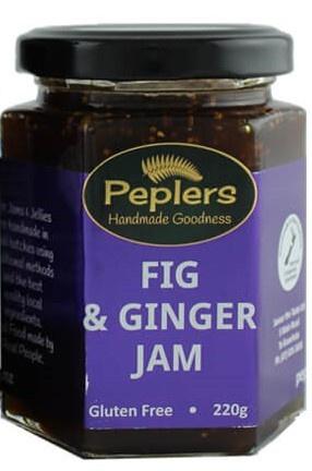 Peplers Fig Ginger Jam 220g