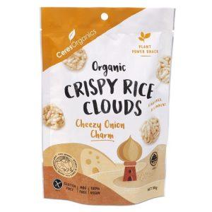 Ceres Organics Crispy Rice Clouds - Cheesy Onion 50g