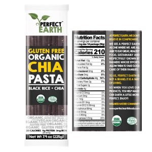 Perfect Earth Black Chia Pasta 225g