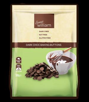 Sweet William Dark Choc Baking Buttons 30g