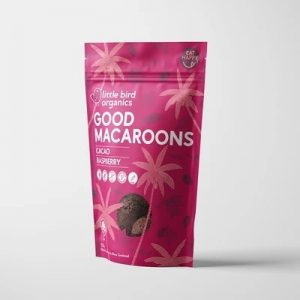 Little Bird Cacao & Raspberry Macaroons 125g