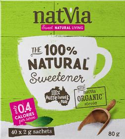 Natvia Natural Sweetener 40x2g Sticks 80g