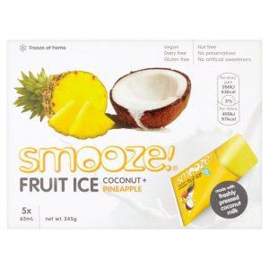 Smooze Pineapple Fruit Ice Coconut 10x65ml 690g
