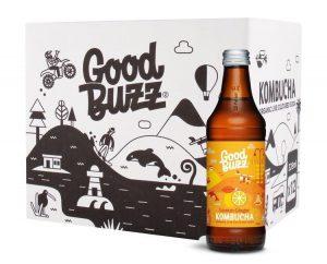 Good Buzz Lemon Ginger Kombucha 328ml