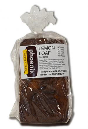 Phoenix Lemon Loaf 600g FROZEN