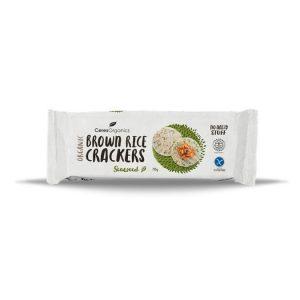Ceres Organics Brown Rice Crackers Seaweed 115g