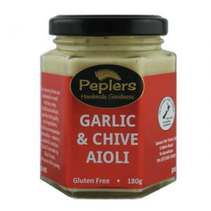 Peplers Garlic & Chive Aioli 180g