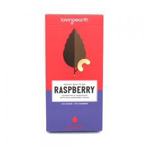 Loving Earth Raspberry Chocolate 80g