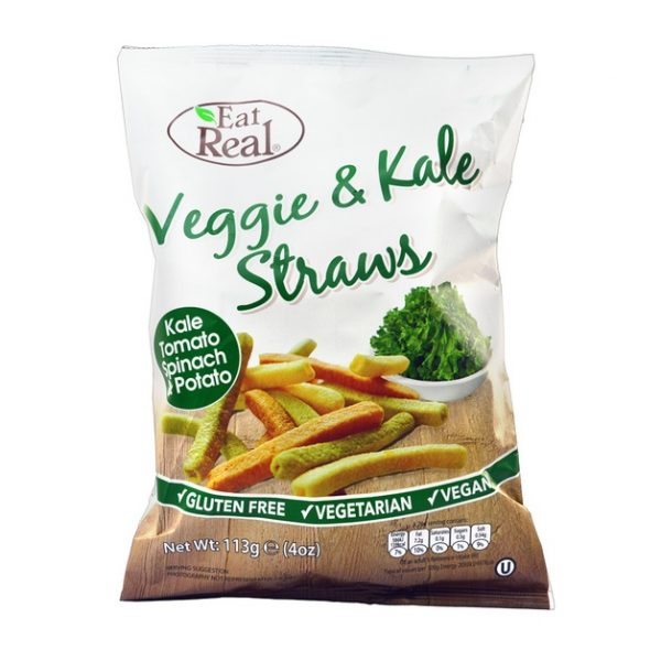 Eat Real Veggie & Kale Straws 113g