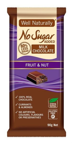 Well Naturally Chocolate Fruit & Nut 90g