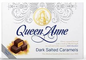 Queen Anne Dark Salted Caramels 140g