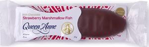 Queen Anne Milk Chocolate Strawberry Marshmallow Fish 50g