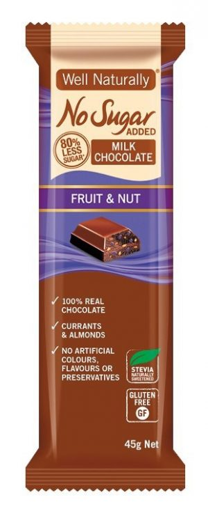 Well Naturally Chocolate Fruit & Nut 45g