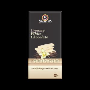 Sugarless Confectionery Creamy White Chocolate 80g