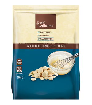 Sweet William White Chocolate Buttons 300g