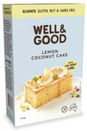 Well & Good Lemon Coconut Cake Mix 475g