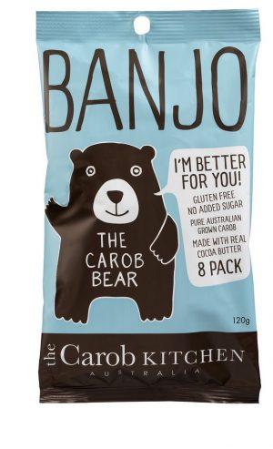 Banjo Milk Carob Bears (8) 120g