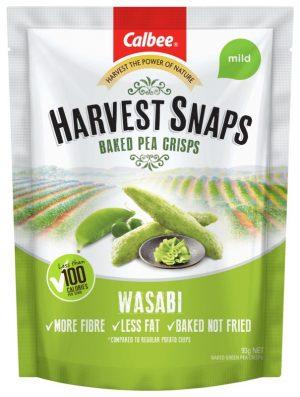 Harvest Snaps Pea Crisps Wasabi 93g