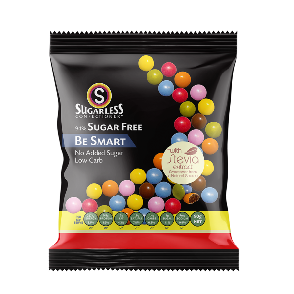 Sugarless Confectionery Be Smart with Stevia 90g