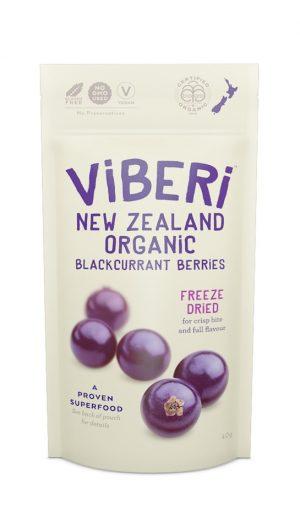 Viberi Blackcurrant Berries Freeze Dried 40g