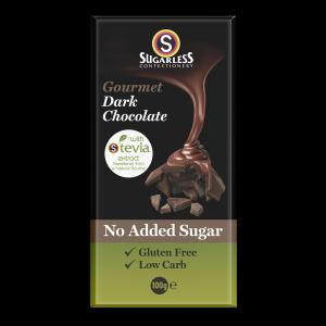 Sugarless Confectionery Gourmet Dark Chocolate 100g