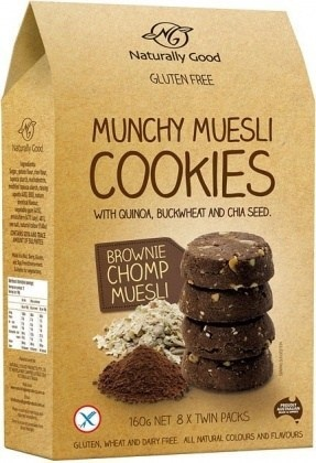 Naturally Good Munchy Brownie Chomp Muesli Cookies 160g
