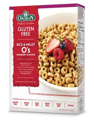 Orgran Rice and Millet Wildberry Os 300g