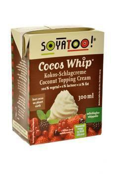 SoyaToo Cocos Whip Coconut Topping Cream 300ml
