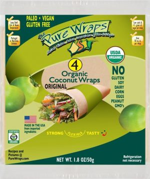 The Pure Wraps Coconut 56g