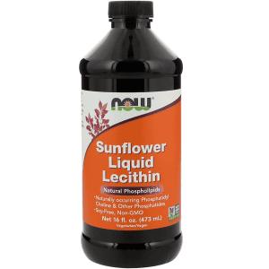 Now Sunflower Liquid Lecithin 473ml
