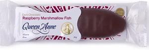 Queen Anne Dark Chocolate Raspberry Marshmallow Fish 50g
